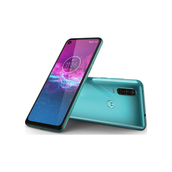 motorola one action aqua teal 1