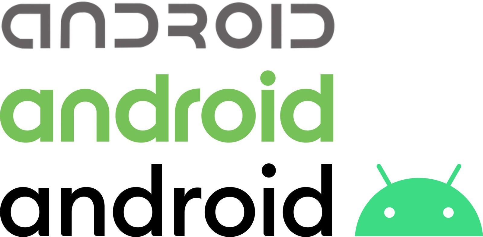 android logo three generations