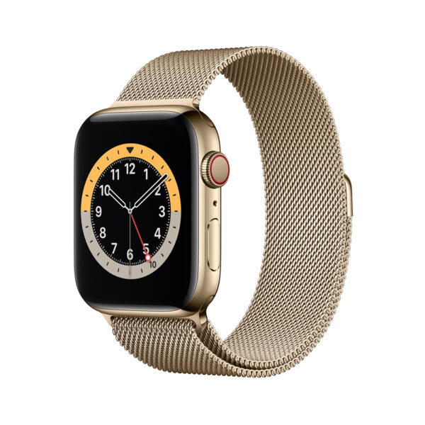 44 stainless gold milanese gold 6s cell