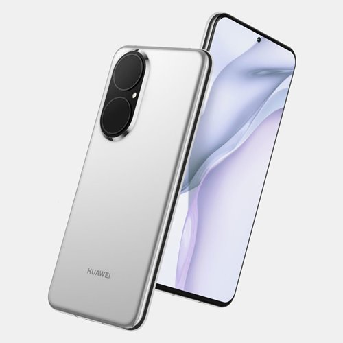 leaked huawei p50 silver gray render front right back left view 500x500 1